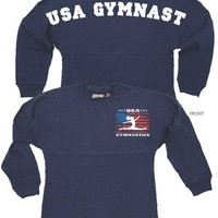 Womens USA Gymnastics Billboard Crew Shirt