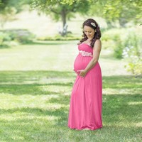 Maternity dress Pregnant Clothes Dress Photography clothing women Maternity summer long pregnant Dress