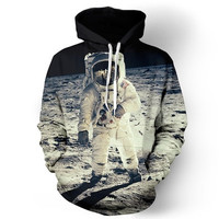 Fashion Men/women Sweatshirts Space Galaxy Print Astronaut 3d Pullovers Novetly Crewneck Long-sleeve Hoody
