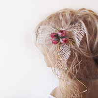 Bridal Headpiece, Rustic Wedding, Vintage Wedding, Flower Pins, Boho Wedding, Country Wedding, Wedding Hair Accessory