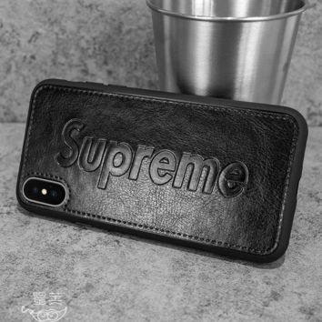 Black SUPREME Popular Women Men Personality Case For iPhone 6 6s 6plus 6s-plus 7 7plus iphone 8 iphone X XS Max XR