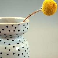 Ceramic Black Polka Dot Vase