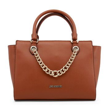 Love Moschino Brown Leather Handbag