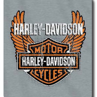 "Harley Davidson 50""x60"" Sweatshirt Blanket - Biker Badge Design"
