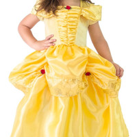 Little Adventures Yellow Beauty Satin Dress Costume with Hairbow