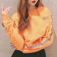 Explosion models women's fashion autumn new reflective letters printing sweater women
