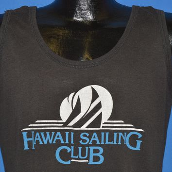 321b48c26dc5a 80s Hawaii Sailing Club Tourist Tank Top t-shirt Large