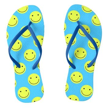 Happy Face Flip Flops