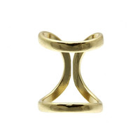Gold Metal Double Ring