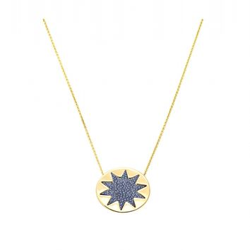 House of Harlow 1960 Jewelry Mini Sunburst Pendant Necklace