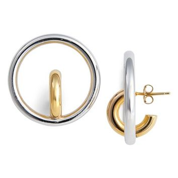 Charlotte Chesnais Saturn Blow Medium Hoop Earrings | Nordstrom