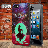In The Moon light Nebula Space Ariel The Little Mermaid Case For iPhone 5, 5S, 5C, 4, 4S and Samsung Galaxy S3, S4