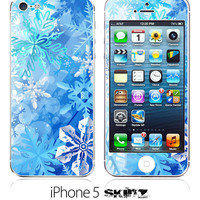 iPhone 5 NEW Blue Flake Skin FREE SHIPPING