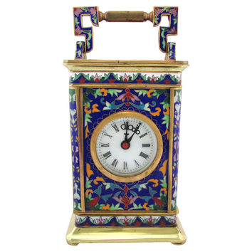 Antique French Enamel Carriage Clock