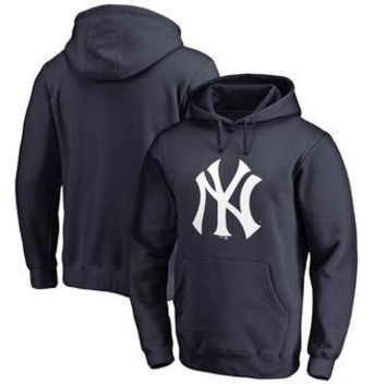 New York Yankees MLB Navy Fastball Fleece Pullover Hoodie