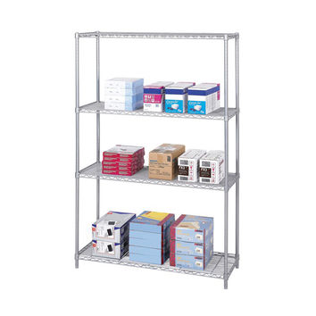 Safco Industrial Wire Extra Strength Steel Shelving Storage Unit 48 x 18 Gray