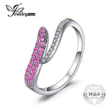 JewelryPalace Unique Dsign Created Pink Sapphire Ring 925 Sterling Silver Fine Jewelry 2017 Fashion Party Accessories For Women