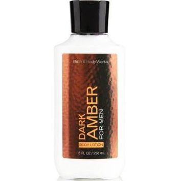 Bath & Body Works DARK AMBER FOR MEN Body Lotion 8 oz
