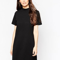ASOS T-Shirt Dress With High Neck
