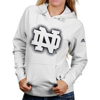 adidas Notre Dame Fighting Irish Ladies 2013 Football Sideline Elude Hooded Sweatshirt - White