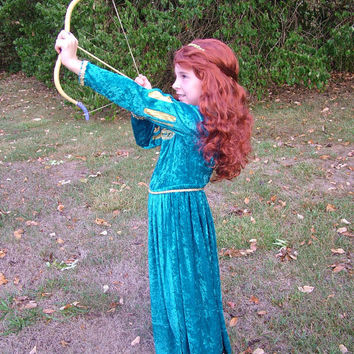 Brave's Merida Inspired Costume- Children's Sizes 3-8