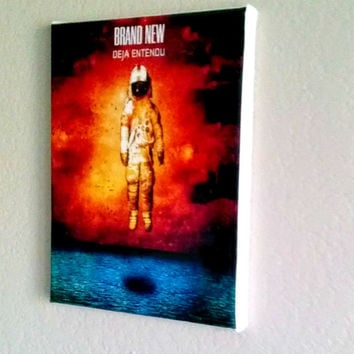 Brand new (band) Deja Entendu Album cover art canvas 8x10 jesse lacey free shipping