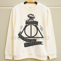 S M L - Deathly Hallows Shirts Harry Potter Shirts Harry Potter Sweatshirt Jumpers Long Sleeve Sweater Unisex Shirts Women Shirts Men Shirts