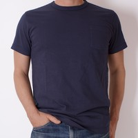 ELMC - T-shirts : Henley & Pocket : Pocket T-shirt - Navy