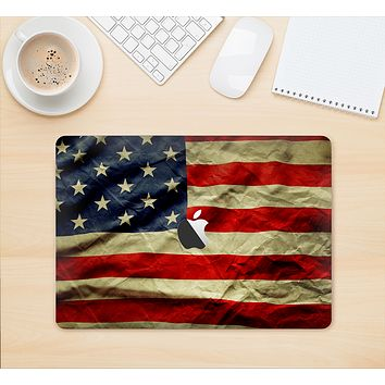 "The Dark Wrinkled American Flag Skin Kit for the 12"" Apple MacBook"
