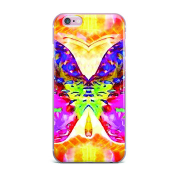 "Anne LaBrie ""Butterfly Spirit"" Pink Yellow iPhone Case"