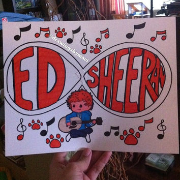 Ed Sheeran Infinity Drawing by Drawingsbymaci on Etsy