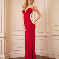 Jersey sleeveless gown 74457 - Prom Dresses