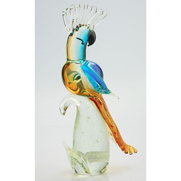 Colorful Parrot Sculpture, Figurine