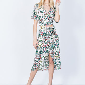Flow into Florals Skirt
