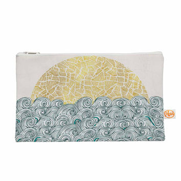 "Pom Graphic Design ""Sunny Tribal Seas II"" Teal Ocean Everything Bag"