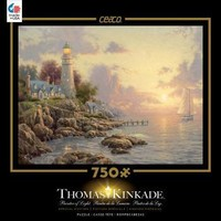 Thomas Kinkade Special Edition Metallic Foil 750 Piece Puzzle-The Sea Of Tranquility