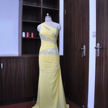 Fast shipping fitted sparkly cheap one shoulder ruched chiffon lime green purple coral bridesmaid dresses 2014