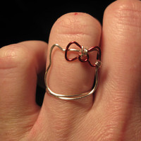 Wire Wrapped Hello Kitty MADE to ORDER Ring