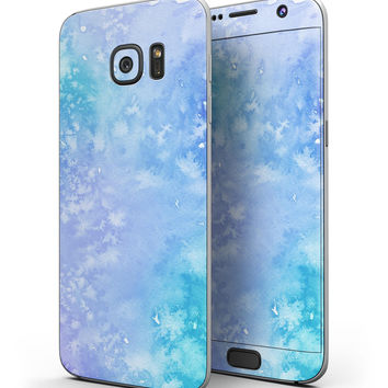 Washed Ocean Blue 42 Absorbed Watercolor Texture - Full Body Skin-Kit for the Samsung Galaxy S7 or S7 Edge
