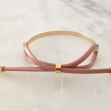 Leather Bow Bangle