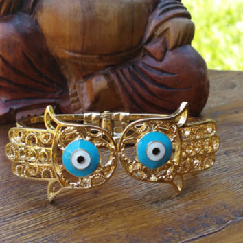 Original Collection- Gold Tone Hamsa/Evil Eye Cuff Bracelet