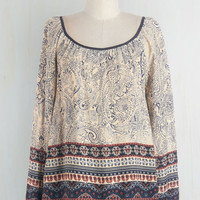 ModCloth Boho Mid-length Long Sleeve Have I Told You Paisley? Top