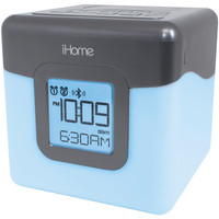 Ihome Bluetooth Color Changing Dual Alarm Clock Fm Radio With Usb