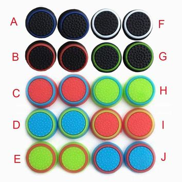 4pieces Thumb Stick Grip Caps Thumbstick Joystick Cover Case For Sony PlayStation Dualshock 3/4 PS3 PS4 Xbox One 360 Controller