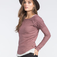 O'neill Swan Womens Sweatshirt Plum  In Sizes