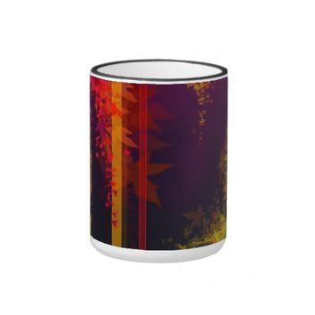 Fall. The brightly colored leaves of Fall. Ringer Mug