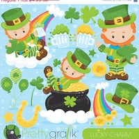 80% OFF SALE St-patrick's clipart commercial use, leprechaun vector graphics, digital clip art, digital images - CL815