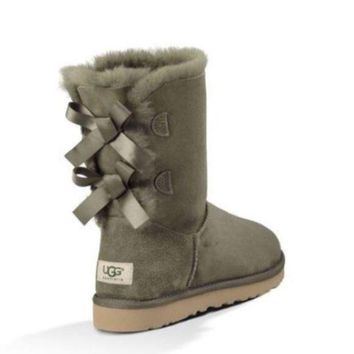 DCCK8NT UGG Bailey bow forest green boots