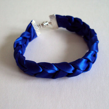 Cobalt Blue Fancy Braid Bracelet