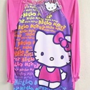 NEW Hello Kitty Girls Size 8 Nightgown & Zipper Purse Set Pink Retail Value $28